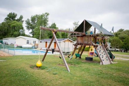 Play and Pool area at Craigleith Carefree RV Resort