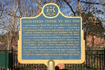 David Currie plaque